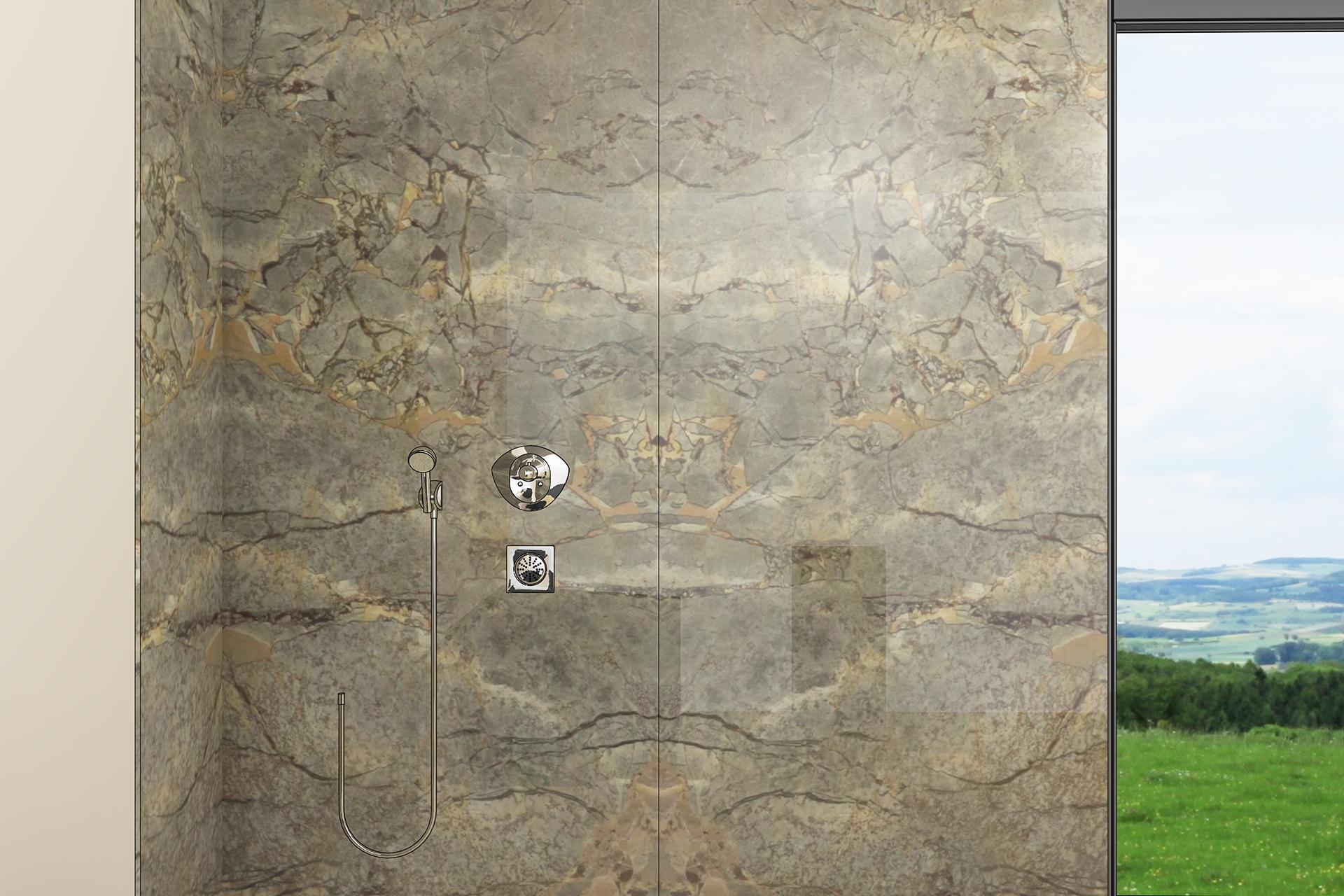 Beispiel Duschwand Frontal