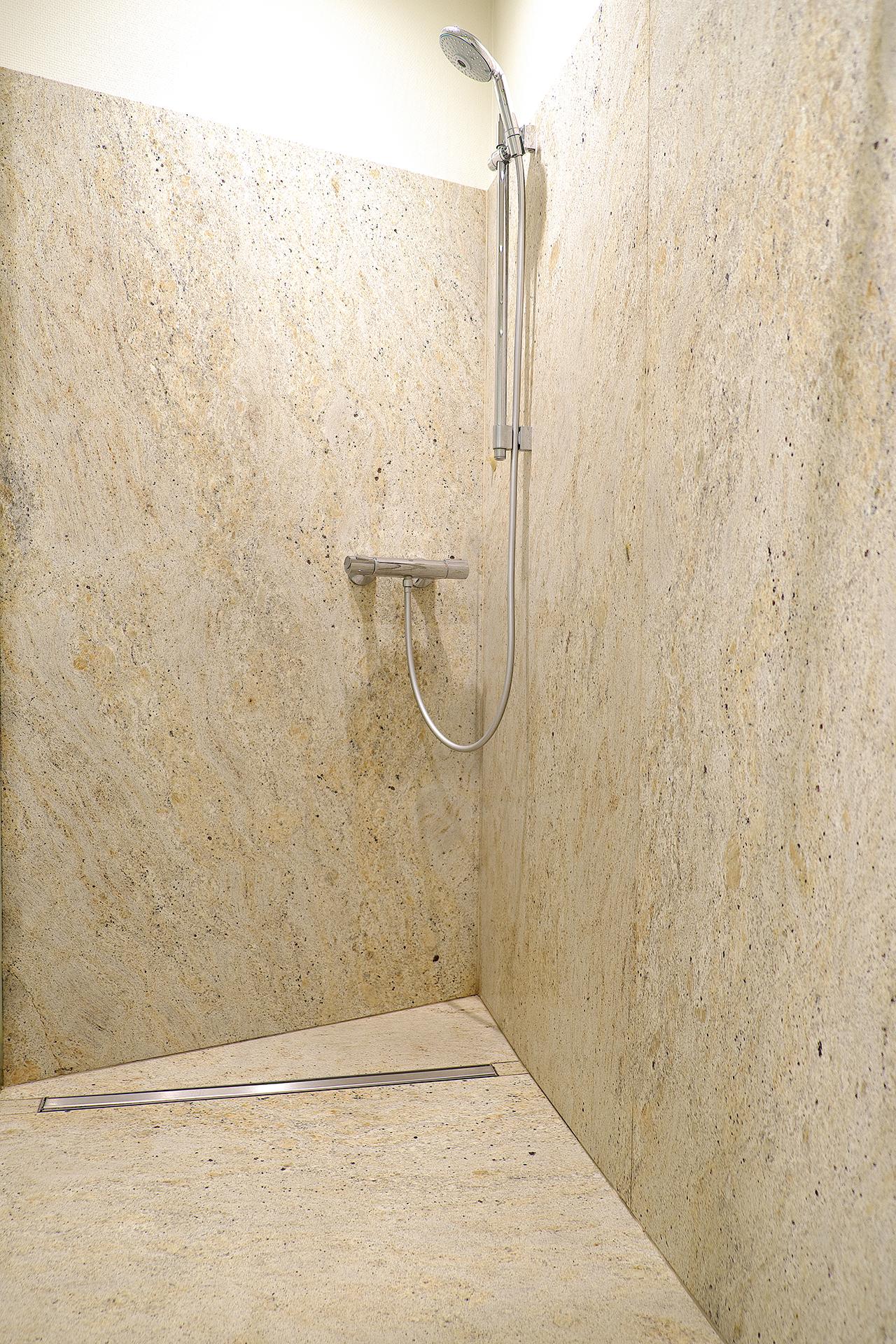 Dusche in Ivory White