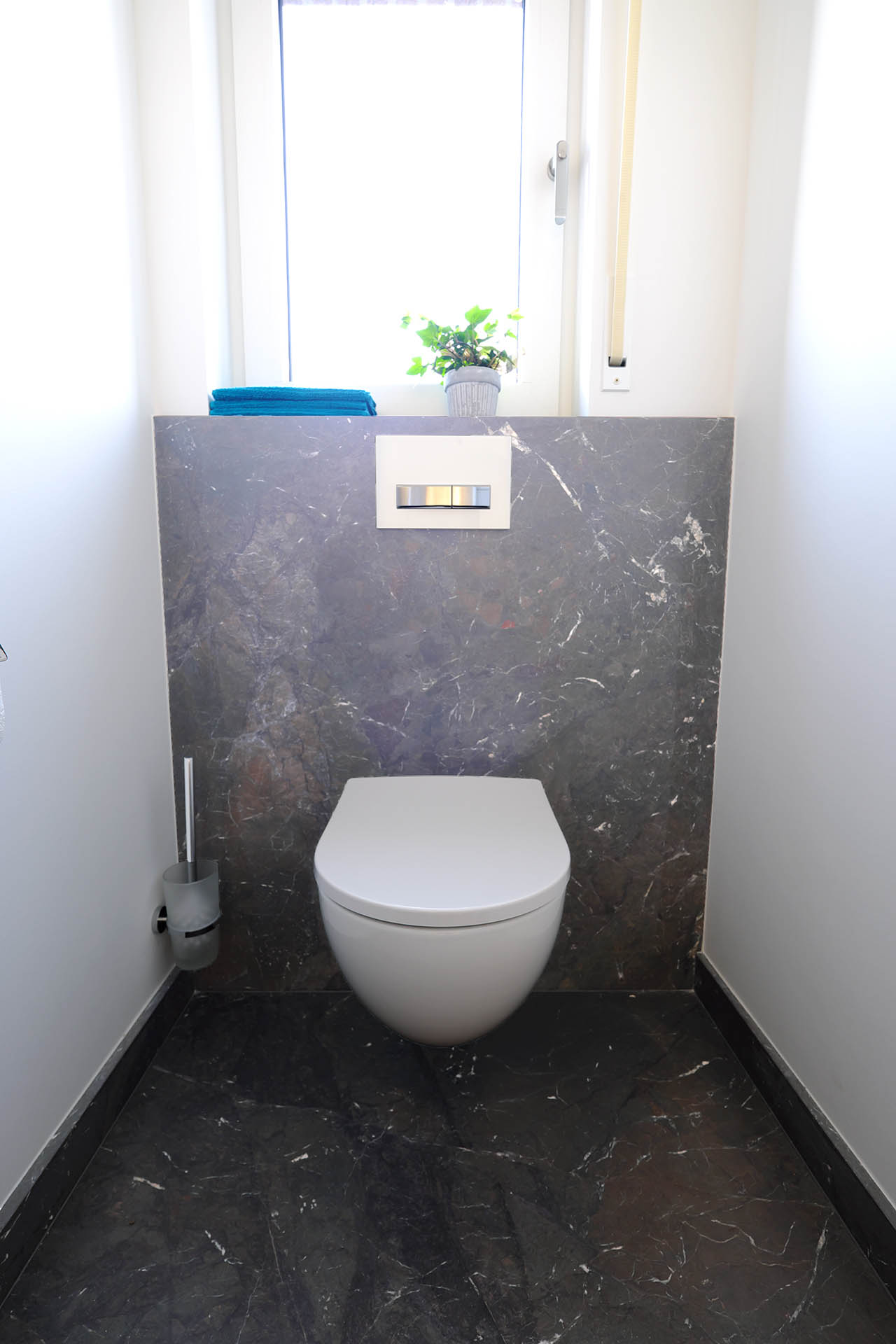 WC Rückwand aus Naturstein