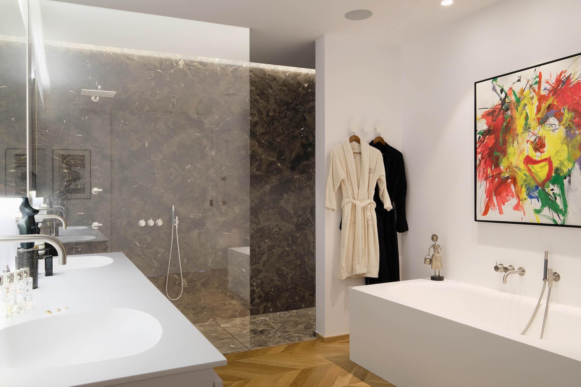 Marmor Dusche - Badezimmerdesign
